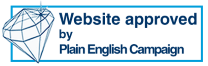 The Plain English Campaign's Crystal Mark seal of approval