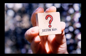 question mark by Karen Eliot
