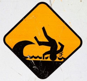 Warning sign for trip hazard
