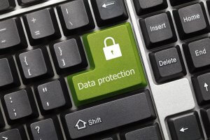 Closeup of Data Protection button on keyboard_Image used under license from Shutterstock