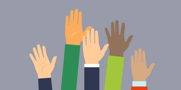 Five hands in the air for five insurance questions and answers
